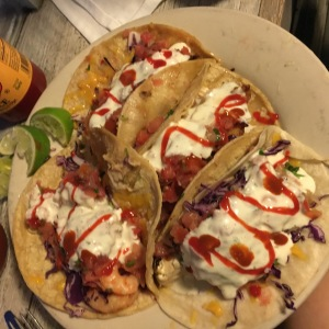 Fish tacos at South Beach Bar & Grille