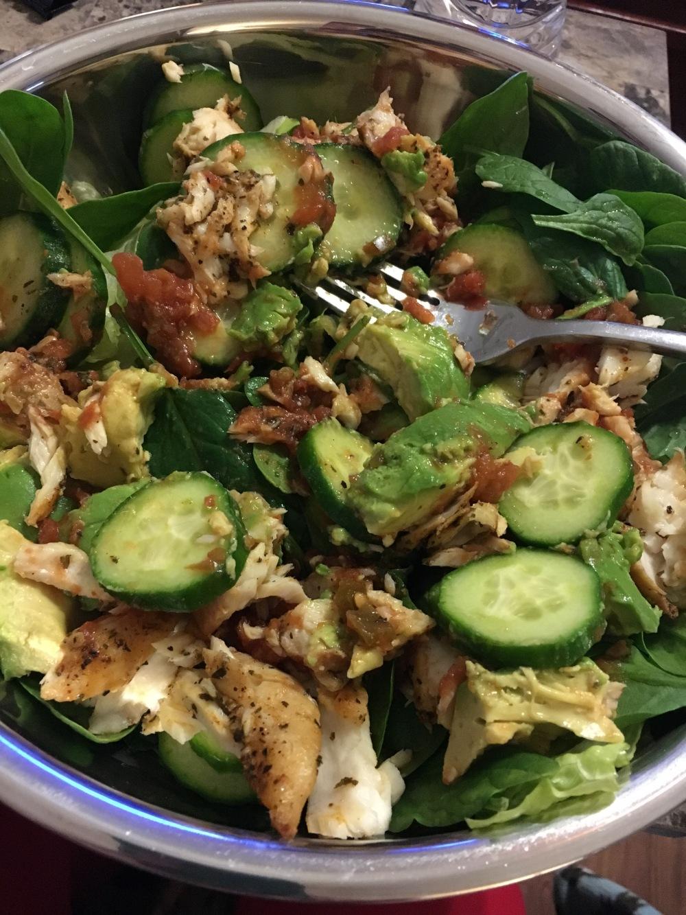 Fish and Salad Meal Prep