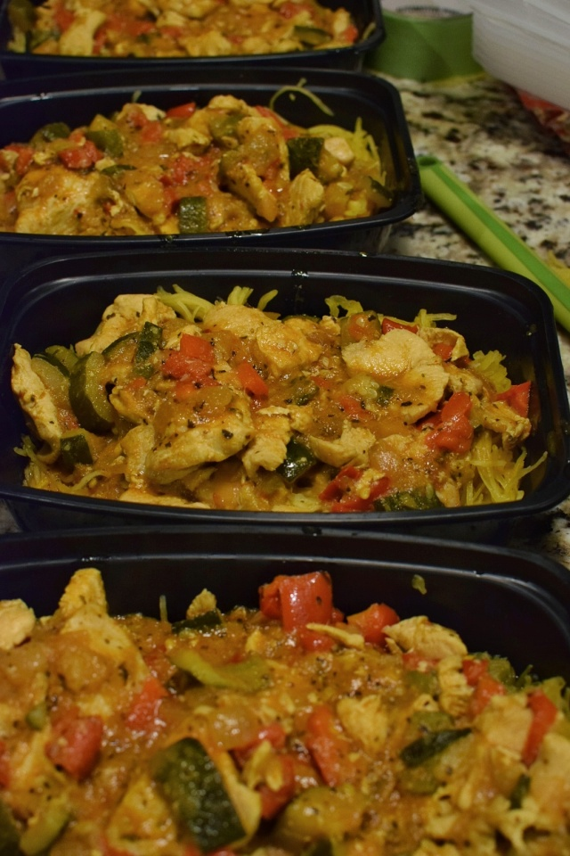 curry chicken meal prep