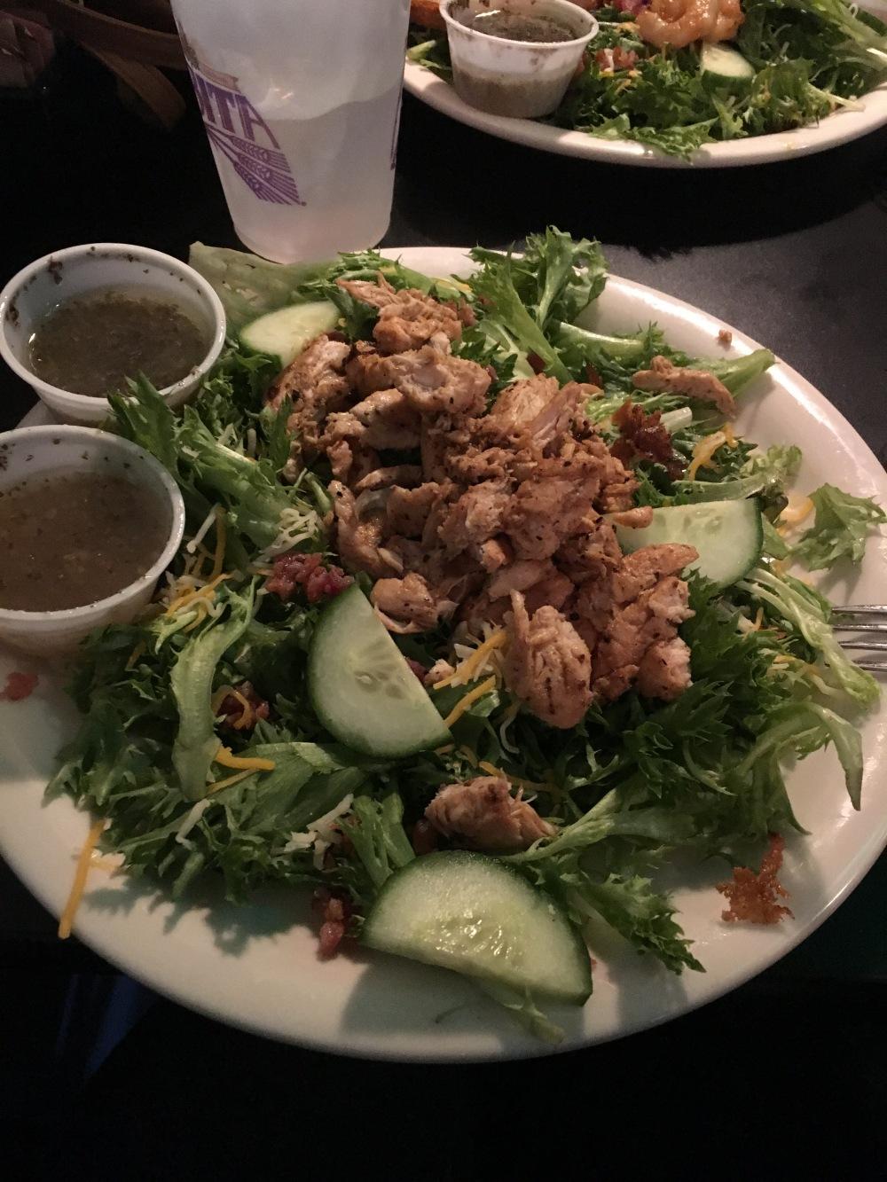 Cafe salad at Blu Jazz Cafe