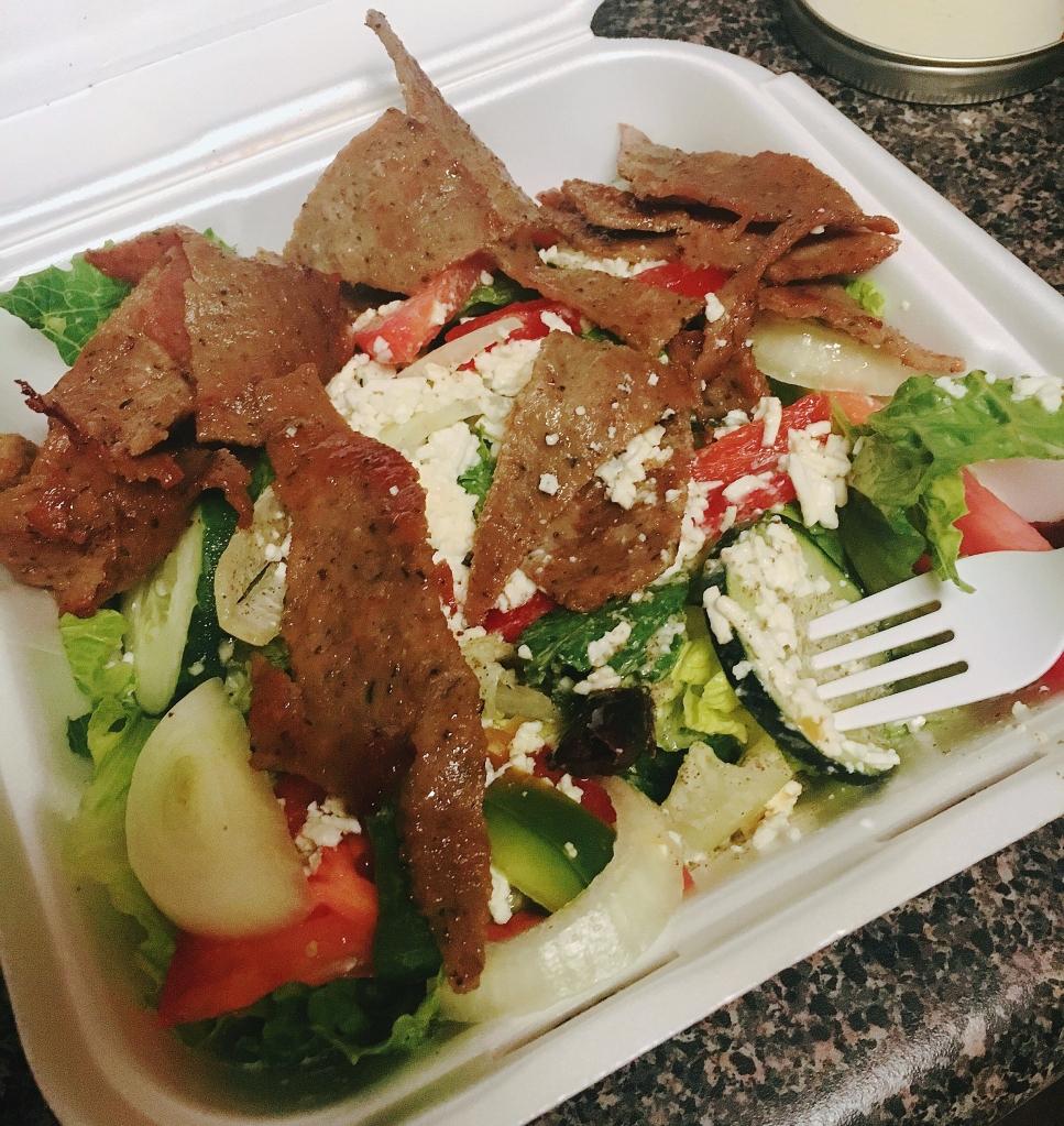 Gryo salad from Petra Cafe