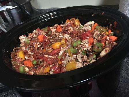 Uncooked turkey chili