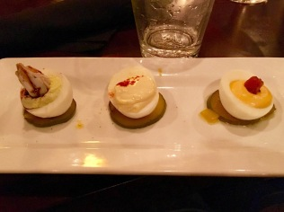 Deviled eggs at Branch.