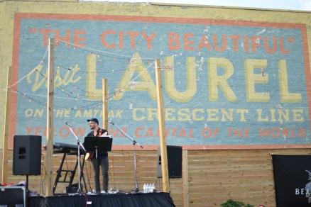 The City Beautiful visit Laurel sign