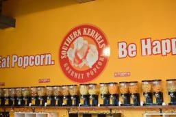 Southern Kernels Gourmet Popcorn wall of popcorn