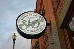 Shug's Cookie Dough & Candy Bar sign