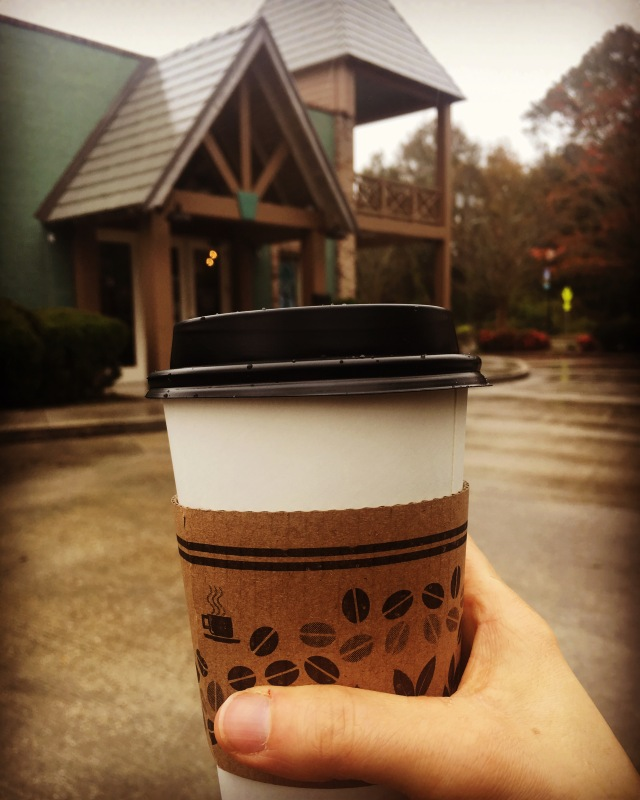 Americano outside of Town Square Cafe & Bakery