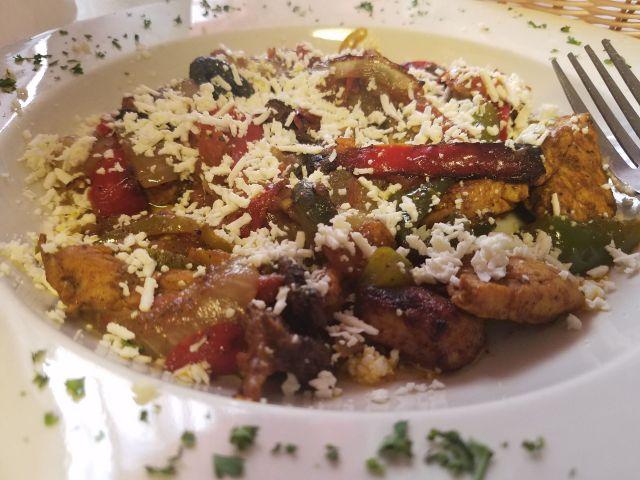 chicken dish at Petra Cafe